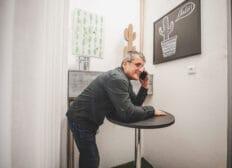 Telefonovací místnost v coworkingu Pracovna R51 v Riegrově 51