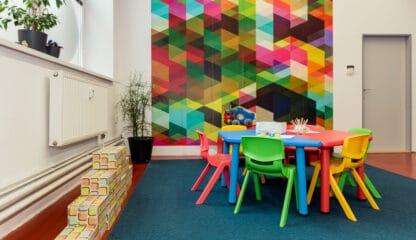 Dětský koutek v prostoru Galerie v Riegrově 51